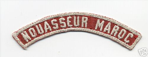Boy Scout Red and White Strip Air Force Base Nouasseur Morocco
