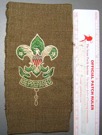 Type 2 BSA Scoutmaster Patch on gabardine