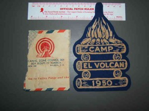 Real Boy Scout Camp El Volcan patch from 1950