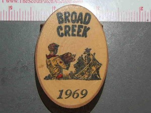 Camp Broad Creek 1969 neckerchief slide